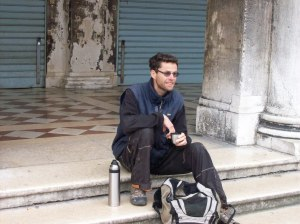 Mathieu op het San Marco plein ...