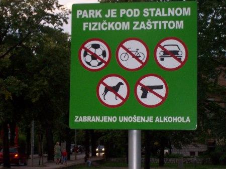 regels in park Mostar