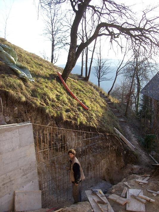 muur bouwen aan achterterras