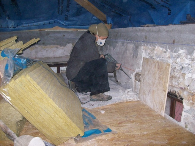 oude stucwerk afkappen