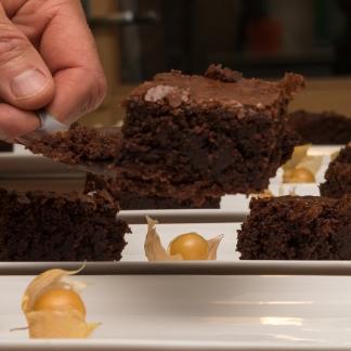 dessert: chocoladebrownie