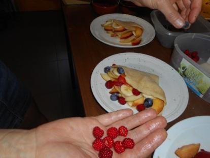 gevulde pannenkoekjes met fruit